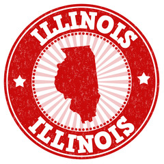 Illinois grunge stamp