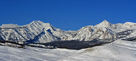 Doubletop Mountain Peak in the Gros Ventre Range in the Central Rocky Mountains