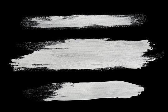 white brush strokes