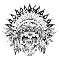 Indian style skull