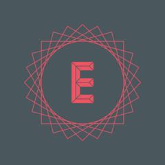 Letter E logo icon design template. E letter outline monogram. Vector illustration.