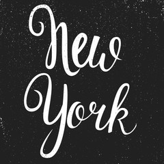Vintage Hand lettered textured New York state of mind t shirt apparel fashion print Retro old school tee graphics for differnet projects, cards, invitations, prints.