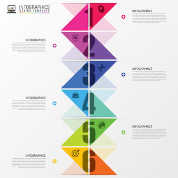 Infographics timeline. Colorful concept with arrows. Vector illustration