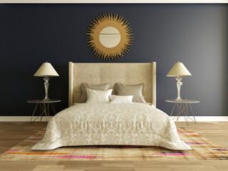 elegant luxury bedroom interior