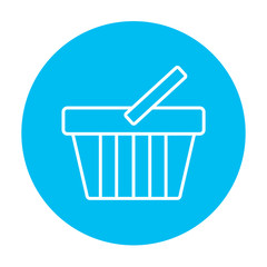 Shopping basket line icon.