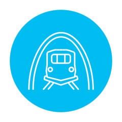 Railway tunnel line icon.