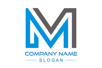 Logo Letter M flat