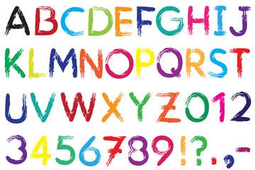 Font. Alphabet. #4.