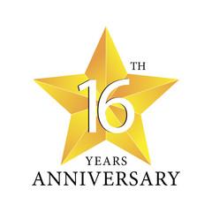 16th years anniversary star