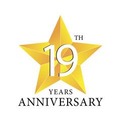 19th years anniversary star