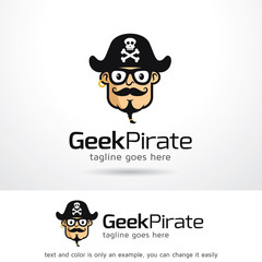 Geek Pirate Logo Template Design Vector