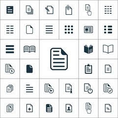 document icons universal set