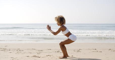 Woman Doing Squat Exercises