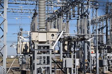 変電所/山形県の庄内地方で、変電所を撮影した写真です。