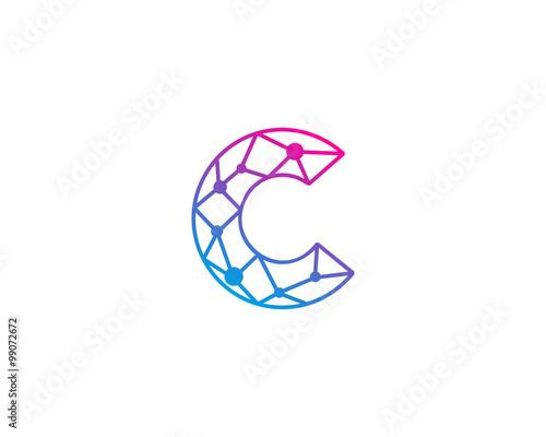 """Connect Line Letter C Logo Design Template Element"" Stock ..."