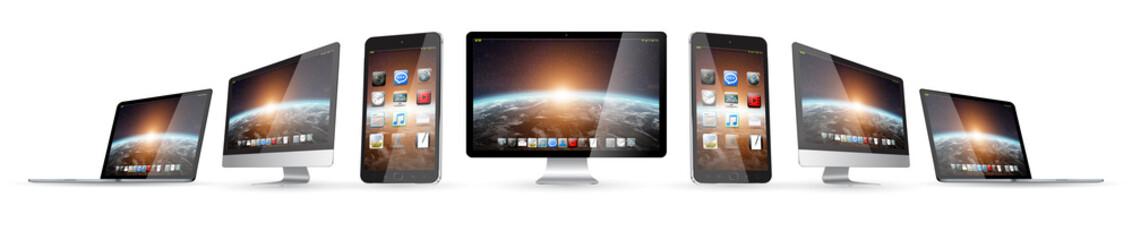 Obraz Modern digital tech device collection - fototapety do salonu