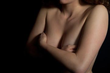 verdeckte Brust