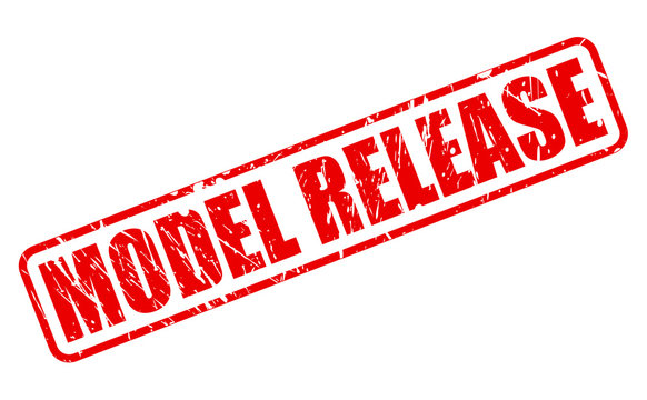 MODEL RELEASE red stamp text
