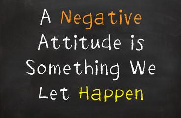 Negative Attitude is Something