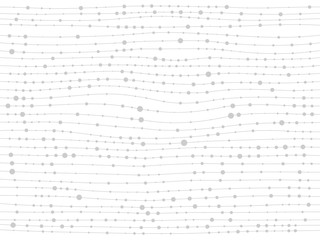 White lines dots gray background