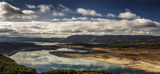 Landscape of the River Tagus. Spain.