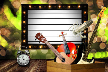 Time for music show in Happy New Year themes