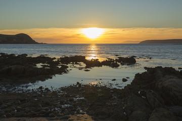 In de dag Baksteen Coastal Sunset