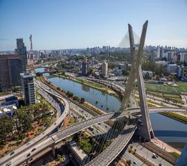 Ponte da Estaiada, em São Paulo