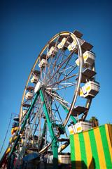 aged vintage photo of ferris wheel