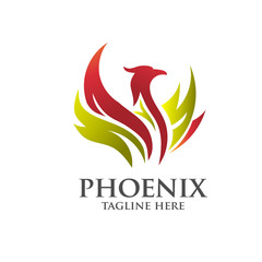 elegant eagle and phoenix logo