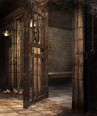 Fototapeta Stary loch w baśniowym zamku obraz