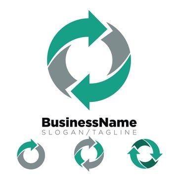 recycle logo icon Vector