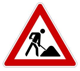Achtung! Baustelle Verkehrsschild