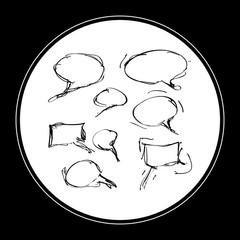 Simple doodle of a speech bubble