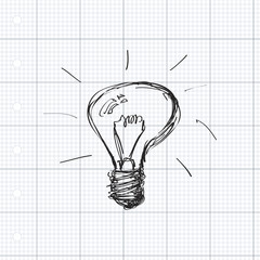 Simple doodle of a light bulb