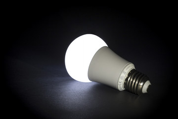 Bright idea. Concept. Modern lightbulb.