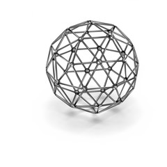 metal wireframe sphere  - rendered 3D-Illustration