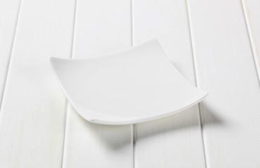 Square white porcelain plate