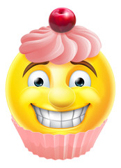 Pink Cupcake Emoji Emoticon