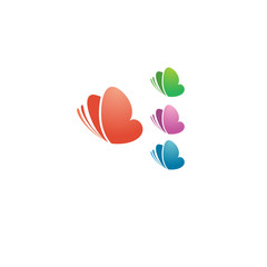 Cute colored butterfly logotype design