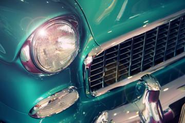 Printed roller blinds Vintage cars Vintage car closeup