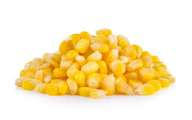 corn seed on white background