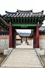 Ancient Korean gate