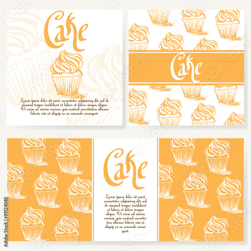 cafe menu with hand drawn design dessert restaurant menu template