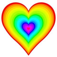 Rainbow Heart in Heart
