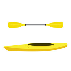 Kayak and oar