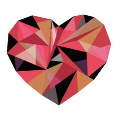 polygonal multicolored heart