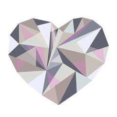 polygonal colored heart