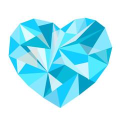 beautiful polygonal colored heart