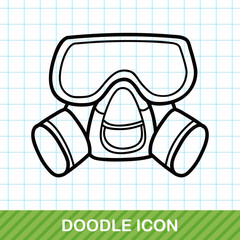 Gas masks doodle